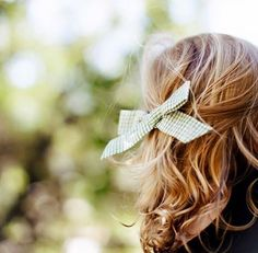 """""""Forest Grid"""" Oversized Schoolgirl Bow. // The perfect accessory to your little's adventerous style."""