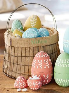 Easter eggs filled with treats.