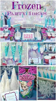 Frozen party ideas #DisneySide Disney Frozen Birthday, Frozen Birthday Party, Elsa And Anna Birthday Party, Frozen Disney, Frozen Kids, Anna Frozen, Fiesta Frozen, 6th Birthday Parties, 3rd Birthday