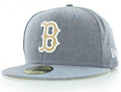 Boston Red Sox Chambray-Suede 59Fifty Fitted Baseball Cap by NEW ERA x MLB