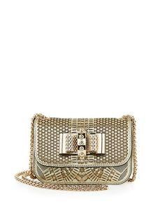 Christian Louboutin Sweet Charity Laser-Cut Mini-Crossbody Bag 2189651ac2510