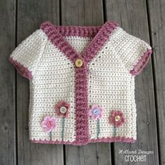 Flower Garden Cardigan Crochet Pattern PDF - Holland Designs Crochet