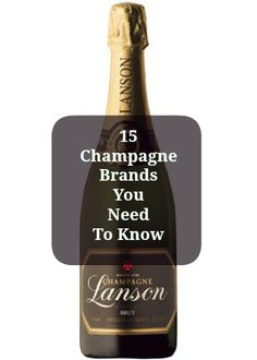15 Champagne Brands You Need To Know -- now who wants to buy me a case of each, so I can become the champagne connoisseur I was born to be? I concur with this pinner! Wine Cocktails, Cocktail Drinks, Fun Drinks, Yummy Drinks, Alcoholic Drinks, Beverages, Champagne Brands, Champagne Cocktail, Sparkling Wine