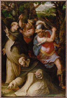Giorgio Vasari : Death of Peter the Martyr (Kunsthistorisches Museum  (Austria - Vienna)) 1511-1574 ジョルジョ・ヴァザーリ