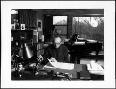 Aaron Copland at work, Rock Hill | Library of Congress