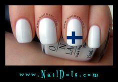Finland Flag Nail Decals