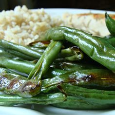 Garlic Roasted Green Beans. Tried 03-25-14 these are amazingly delicious and easy to make. Taste just like the beans at Chinese buffets. I will make these again