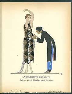 "Andre Edouard Marty, Gazette du Bon Ton ""LA SOUBRETTE ANNAMITE"" in Art, Art from Dealers & Resellers, Prints | eBay"