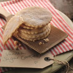 Ruth Clemens has developed this scrumptious Vanilla Sugar Cookies Recipe. These are great served with a cup of hot chocolate or wrapped and given as a gift.