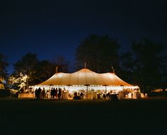 tent at twilight | Tanja Lippert #wedding