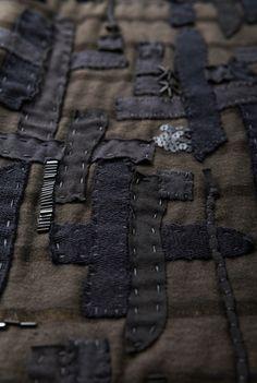 Alabama chanin textured mid length skirt 3