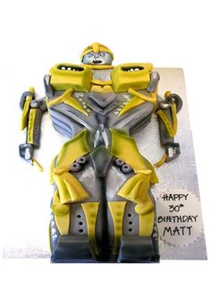 Transformer Birthday Cake that would wow even Optimus Prime