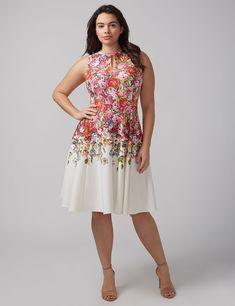 Keyhole Fit & Flare Dress by Gabby Skye