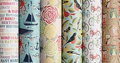 Excellent collection of wrapping paper for framing or decoupaging to canvases.