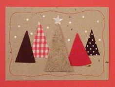 Anna idean kiertää!: 5. päivä: Vinkki joulukortteihin Homemade Christmas Cards, Christmas Wishes, Christmas Art, Xmas Cards, Diy Cards, Handmade Cards, Family Crafts, Craft Night, Card Tags