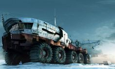 Rob Watkins Art Director Arctic Explorer A huge Russian land ship used to explore vast tundra environments 3ds Max, Science Fiction, Snow Vehicles, Arctic Explorers, Steampunk, 3d Studio, Expedition Vehicle, Futuristic Cars, Futuristic Vehicles