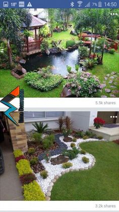 Take a look at this essential image, as well as the information offered … – Backyard & Garden Design Garden Landscape Design, Landscape Designs, Landscape Bricks, Pinterest Garden, Front Yard Landscaping, Landscaping Ideas, Courtyard Landscaping, Ponds Backyard, Outdoor Ponds