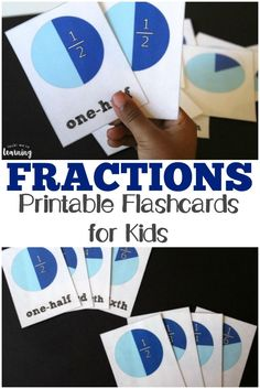 Pick up these printable fraction flashcards to get some easy math practice with the kids! Math Activities For Kids, Fun Math Games, Kids Math, Math Resources, Maths Fun, Number Activities, Homeschooling Resources, Simple Math, Easy Math