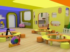 The atmosphere in this kids daycare is very playful and inviting. Any child would be so excited to play in this space and never want to leave. Thus, the mood is welcoming and fun.