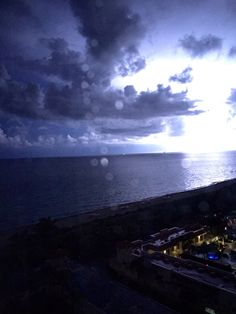 During a thunderstorm and lightening. South Beach Miami.