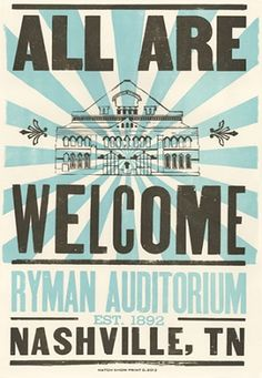All Are Welcome Hatch Show Print