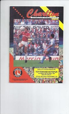 charlton athletic v totte#NHLm hotspur #Football programme 1988/89 from $1.4