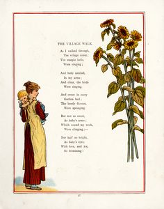 1880s - Under the window pictures & rhymes for children -  Under the window after Kate Greenaway  ( Illustrator )
