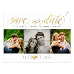 PixDezines DIY color/Save our Date/Faux Gold Postcard Postcard Wedding Invitation, Save The Date Invitations, Save The Date Postcards, Photo Postcards, Save The Date Cards, Wedding Invitations, Floral Wedding Save The Dates, Funny Wedding Cards, Rose Gold Marble