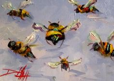 Bees Knees No. 7, painting by artist Delilah Smith