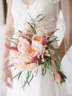A Juliet Garden Rose Bridal Bouquet