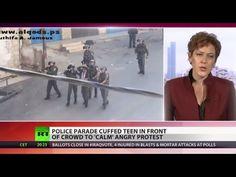 Human Shield: Israeli police use cuffed teen to calm protests - YouTube