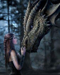 """Алмазная мозаика """"Девушка и дракон"""" [размер 40*50 см.] - 2300 руб. - в наличии!"""