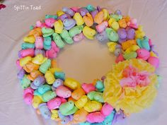 Peep wreath -- would make a cute centerpiece on a table too