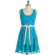 ModCloth Mid-length Sleeveless A-line Brighten the Evening Dress