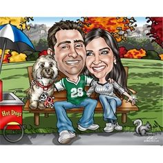 Gift Idea: 1st Anniversary Caricature From Photos $175