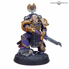 Saul Tarvitz of the Emperor's Children Legion. Legionnaire that was loyal to mankind to its last breath. Warhammer Models, Warhammer 40000, Warhammer Fantasy, The Horus Heresy, Necron, Minis, War Dogs, Warhammer 40k Miniatures, Game Workshop