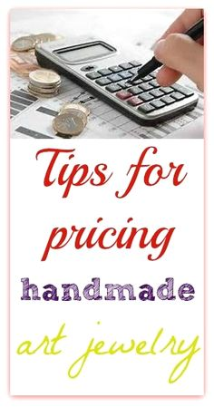 Tips from an artist with over a decade selling experience on how to price handmade jewelry. Examples on how to get a wholesale and retail price.  #JewelryTips