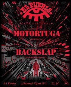 Motortuga + Backslap en El Pueblo Café Cultural, Ourense music musica concerto concierto