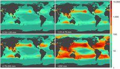 Jarin blogi - biologiaa ja maantiedettä: Jonoon aseteltuna merissä oleva muovimäärä yltäisi 425 kertaa koko maapallon ympäri tai kahdesti kuuhun ja takaisin