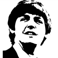 Black and white vector of Paul Mccartney in photo-shop image Beatles Art, The Beatles, Paul Mccartney, 3d Pencil Drawings, Caricature Artist, Vector Portrait, Silhouette Art, Stencil Art, Watercolor Sketch