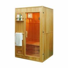 Aleko Canadian Hemlock Wood Indoor Wet Dry Sauna with 3 KW ETL Electrical Heater Dry Sauna, Steam Sauna, 2 Person Sauna, Sauna Seca, Canadian Hemlock, Tall Cabinet Storage, Locker Storage, Indoor Sauna, Sauna Room