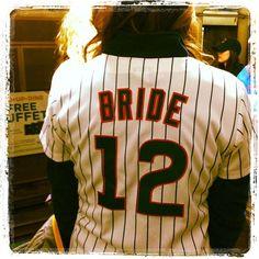 Baseball Wedding Bride Getting Ready Shirt!! Too cute