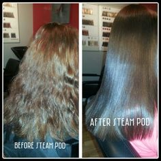 Steam Pod before & after.