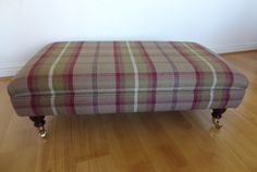 Handmade Upholstered Footstool / Ottoman In by TheFurnitureTailor