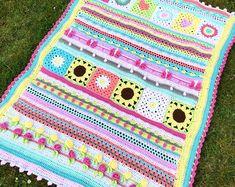 Thassos Mosaic Crochet Blanket instant download PDF pattern | Etsy Baby Blanket Crochet, Crochet Baby, Crochet Summer, Crochet Blankets, Baby Blankets, With Love, Manta Crochet, Afghan Crochet Patterns, Crochet Shawl