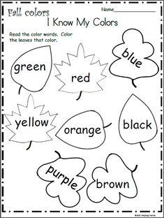Color Worksheets color worksheets colors worksheets for preschool kindergarten learning. color worksheets colors worksheets for preschool kindergarten Color Worksheets For Preschool, Fall Preschool Activities, Preschool Learning, Kindergarten Worksheets, In Kindergarten, Learning Activities, Preschool Colors, Worksheets For Preschoolers, Toddler Worksheets