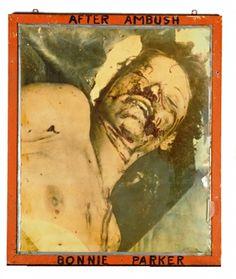 Bonnie+Clyde+Bullet-Riddled+Body | Bonnie Parker.