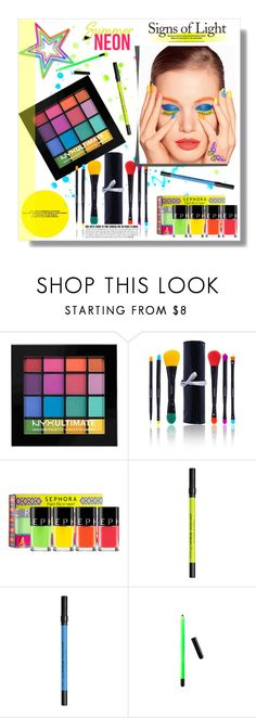 """Bright Eyes: Neon Beauty"" by sharoncrotty ❤ liked on Polyvore featuring beauty, NYX, Shany, Sephora Collection, Ciaté, Urban Decay and neonbeauty"