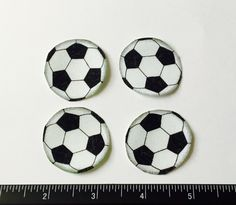 4 Soccer Football Sports Handout Appliques by BarefootBones on Etsy