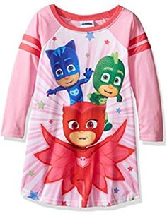 Masks Little Girls Varsity Nightgown. -- Learn more by visiting the image link. (This is an affiliate link) #Nightgowns